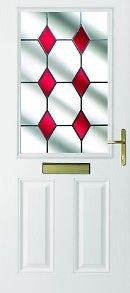 UPVC Doors White Half Glass