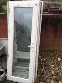 PVC Doors in Hartlepool removed ready for repairs to hinges and locking system.