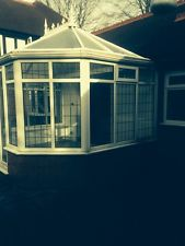 Conservatory with leaded sealed double glazing units replaced due to cloudy condensation on inside of windows.
