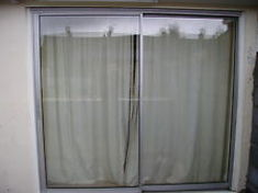 Patio door Northampton after glazed unit repairs leaving them clear again.